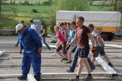 Kirmes 2011 - Zeltaufbau